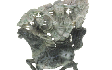 Chinese Carved Jade Large Sculpture.