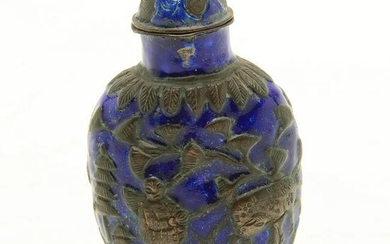 Chinese Copper and Enamel Snuff Bottle.