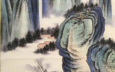 Chinese Hanging Scroll of 'Mountain' Painting