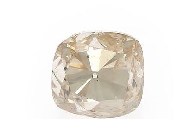 NOT SOLD. An unmounted cushion-cut diamond weighing 1.50 ct. Colour: Light Brown. Clarity: SI1. –...