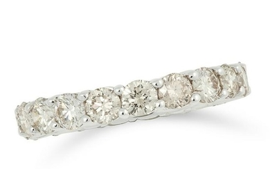 DIAMOND ETERNITY RING set with 2.84 carats of round cut