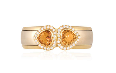 Description A CITRINE AND DIAMOND BANGLE, BY HEMMERLE The...