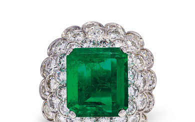 EMERALD AND DIAMOND RING, MOUNT BY CARTIER