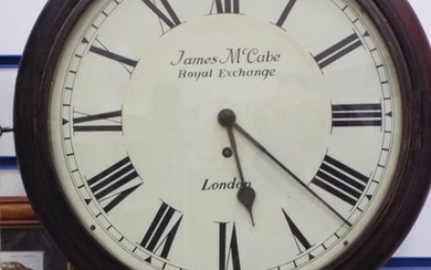 Early 20th Century James McCabe, Royal Exchange wall clock. ...