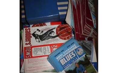 Extremely large collection of circa 1950s/60s football progr...