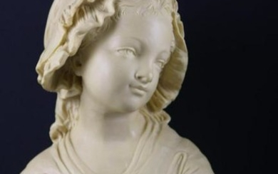 FINE COMPOSITE BUST OF A MAIDEN