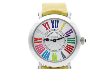 FRANCK MULLER | Round - Color Dreams, A New Old Stock STAINLESS STEEL WRISTWATCH, CIRCA 2019