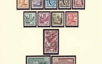 Germany Allied Occupation A basic mint collection in a Scott speciality album in a box, includi...