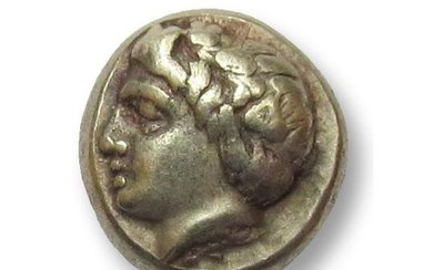 Greece (ancient) - Ionia, Phokaia. EL hekte, 387-326 B.C. - Dionysos, well centered - Electrum