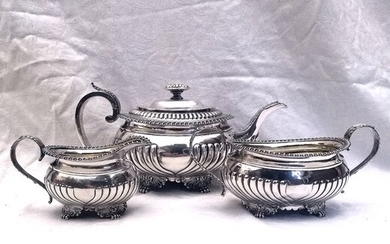 Joseph Angell (I), London - Important George III Regency Period Service (3) - .925 silver - 1815