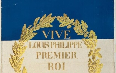 Long live Louis-Philippe First King of the French, rare wallpaper poster, Dufour-Leroy manufacture, circa 1830