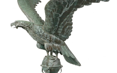 MOLDED COPPER EAGLE ROOF GABLE CREST