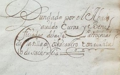 Manuscript; Rules for the Chaplaincy of the Parish of the village of Ojacastro - 1740
