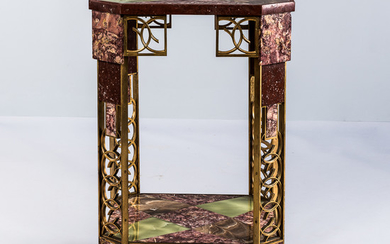 Marble, Onyx, and Gilt-bronze Side Table from the Collection of William P. Chrysler, Jr.