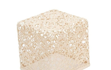 Marcel Wanders, white cotton in synthetic resin square...