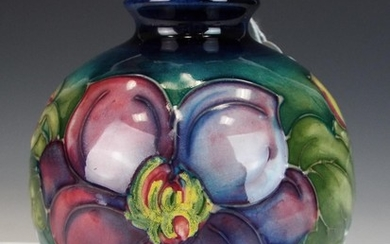 Moorcroft small Baluster vase in the Clematis pattern. 4.5 ...