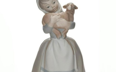 NAO BY LLADRO FIGURE GIRL WITH GOAT