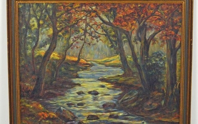 O/C Of A Forest & Stream Signed Dated 1929 Paris