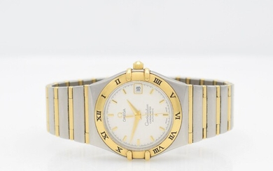 OMEGA Constellation chronometer gents wristwatch in steel/gold...