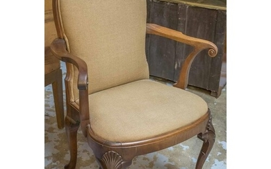 OPEN ARMCHAIR, late 19th/early 20th century, George I style ...
