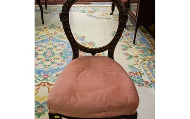 PAIR OF BALLOON BACK VICTORIAN WALNUT OCCASIONAL CHAIRS