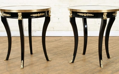 PR EMPIRE STYLE BRONZE MOUNTED MARBLE TOP TABLES