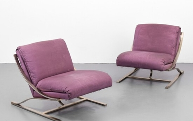 """Pair of """"Zeta"""" Style Lounge Chairs, Manner of Paul Tuttle"""