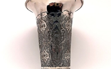 Persian Vase of Extraordinary Quality - Silver - Persia - Late XIXth Century / Early 20th Century