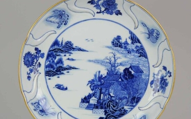 Plate - Blue and white - Porcelain - Chinese Porcelain Qianlong Top Quality China Antique Qing Dynasty - China - 18th Century / 19th Century