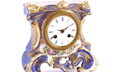 Porcelain table clock