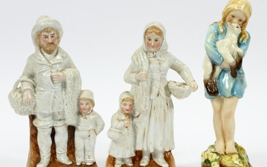 "ROYAL WORCESTER ""SPRING"" ALSO PAIR GERMAN FIGURES"