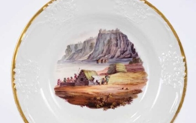 Rare Stephen Folch Indian view plate, circa 1820-28. By repute from a service presented to Beatrice Weatherall at Walter Gray at their wedding in Calcutta on 4th July 1877 by Colonel Deddwar