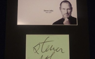 STEVE JOBS. (1955-2011). An extremely rare autograph from Apple...