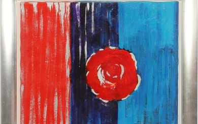 Signed B. van Abbe 2004, modern composition of rose