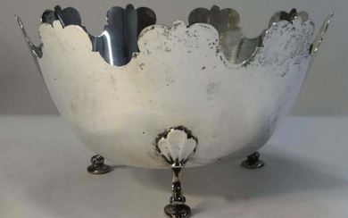 TIFFANY STERLING SILVER MONTEITH STYLE FRUIT BOWL 9