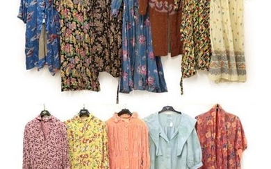 Twelve Assorted Circa 1930's-1950's Day Robes and Dressing Gowns, comprising...
