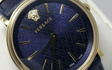 Versace - Blue Manifesto UNIFIED Leather IP Gold Swiss Made extra strap - VBP030017 - Women - 2011-present