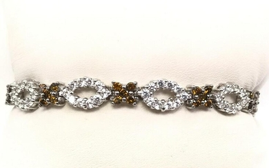 "Vintage ""Xs"" and ""O's"" Sterling Silver CZ Sparkle Line"