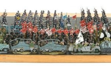 WWII 1930's GERMAN ARMY PARADE 30mm LEAD FIGURES