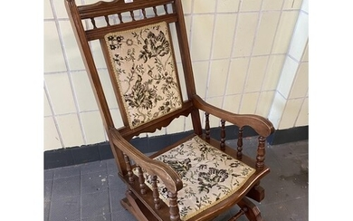 "american rocking chair in very good order appx 20"" wide 25"" ..."