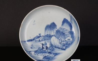 blue de hue porcelain brushwash with landscape decoration, 18th century (1) - Blue and white - Porcelain - China - 18th century
