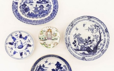 5pc Chinese 18th/19th Cent. Porcelain Dishes 3'' to