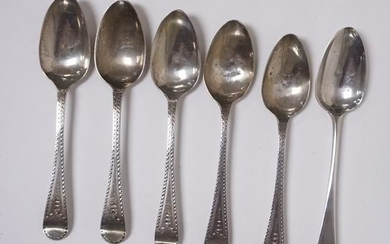 STERLING SILVER 6 ENGLISH SMALL SPOONS