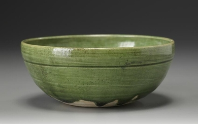 A CHINESE GREEN LEAD-GLAZED BOWL, LIAO DYNASTY