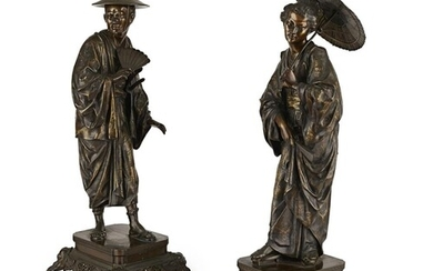 A FINE PAIR OF SECOND HALF 19TH CENTURY FRENCH 'JAPONISME' P...