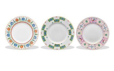 A Group of Three Russian Porcelain Plates