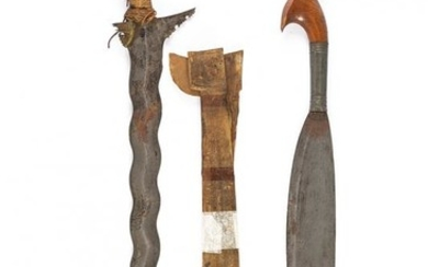 A LOT OF TWO EDGED ARMS OF THE MORO PEOPLE