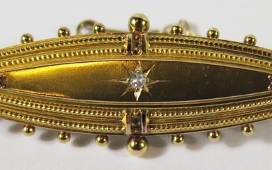 A Victorian 15ct Gold and Diamond Locket Back Brooch, Cheste...