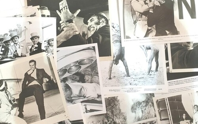 A collection of vintage James Bond stills mostly 8x10 and 8x...