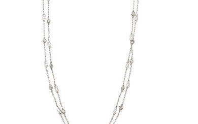 A diamond and platinum long chain